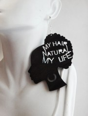 natural hair earrings afro jewelry