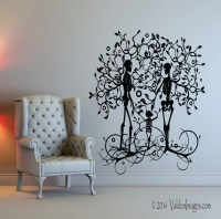 Skeleton family wall decal tree wall decal living by
