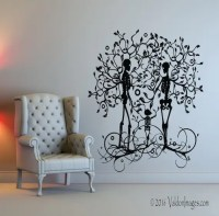 Skeleton family wall decal tree wall decal living by ...
