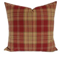 Plaid pillow cover Red decorative pillow Throw pillow Couch