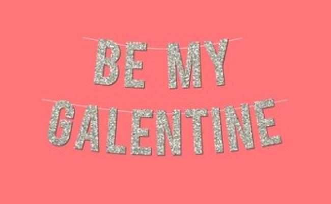 Pink Sparkly Happy Galentine S Day Banner