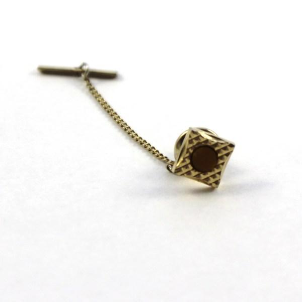 Vintage Gold Tie Pin Tie Tack Vintage Tiepin by CuffandCollar