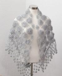 Silver Grey Shawl Wedding Shawl Wedding Lace Bolero Bridal