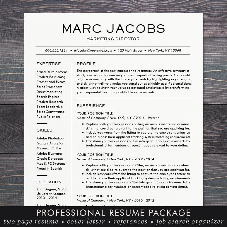 professional resume layout template