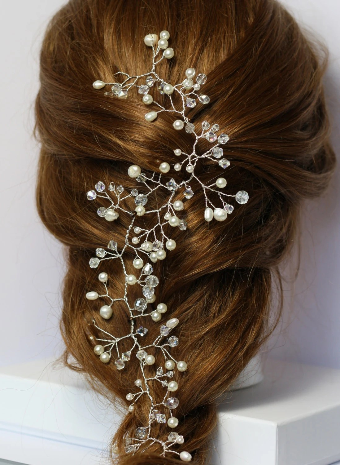 Bridal Hair Vine Pearl And Crystal Hair Vine Hair Vine