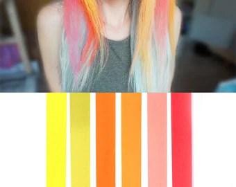 orange hair chalk etsy