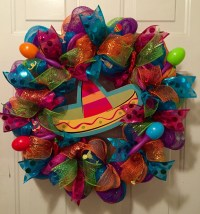 Cinco De Mayo wreath fiesta wreath Mexican fiesta by ...