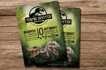 Jurassic World Birthday Party Invitations Printable