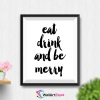 Printable Eat Drink And Be Merry Wall Art by WallArtStock ...