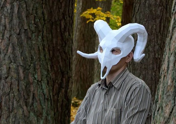 Create My Own 3d Name Wallpaper Ram Mask Ram Skull Mask Instant Pdf Download Papercraft