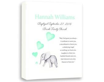 Big Ear Elephant Baby Baptism Gift Dedication Baby Gift
