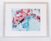 Pink and Blue Wall Art modern art print in pantone 2016