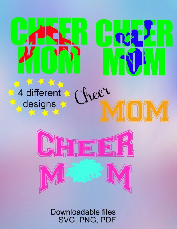 Cheer Mom Svg Cutting Files Silhouette Cameo And Cricut
