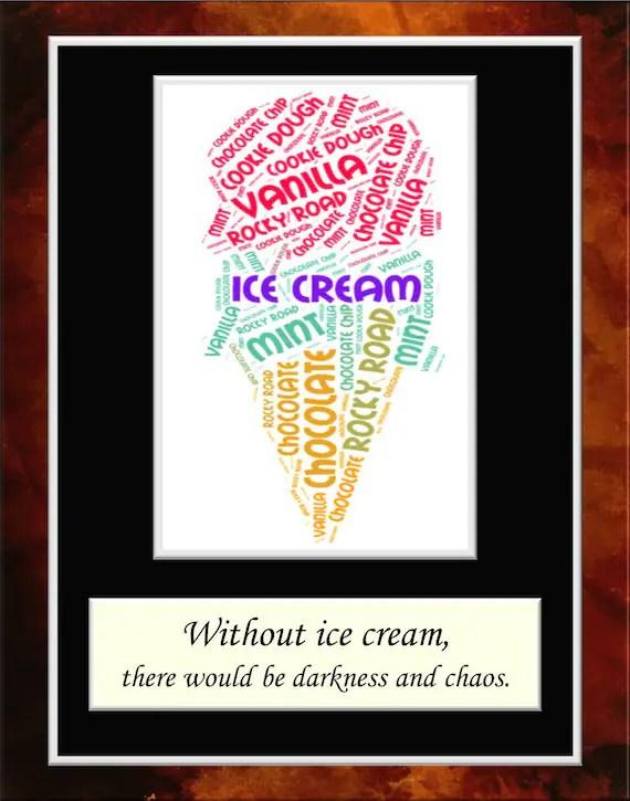 Ice Cream Word Art