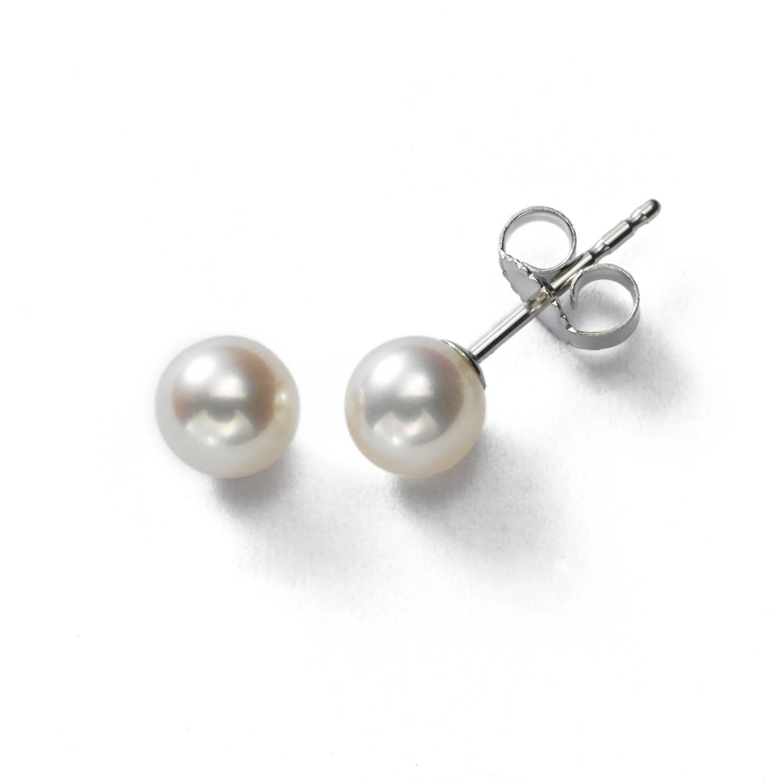 Pearl Stud Earrings Real Pearl Earrings Freshwater Pearl