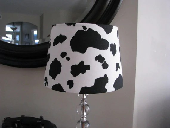 Black and White Cow Lamp shade