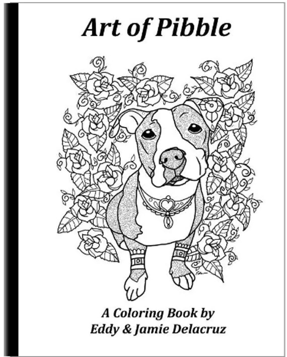 Art of Pibble Coloring Book Volume No. 1 Physical Book A