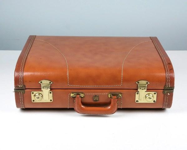 Vintage Suitcase Brown Trunk Suitcase1950s