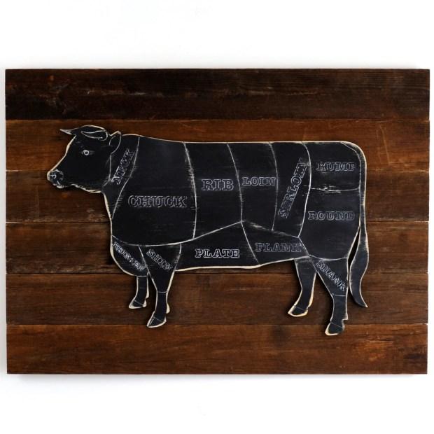 Cow Butcher Chart Art Home Design Ideas