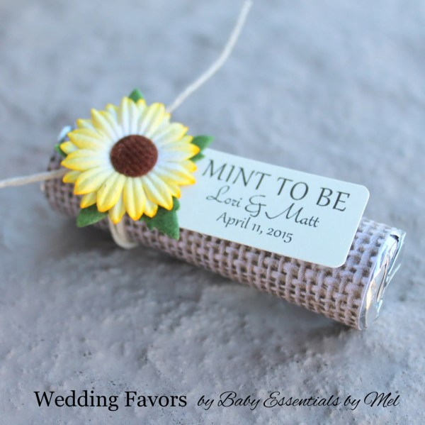 Sunflower Wedding Favors With Personalized
