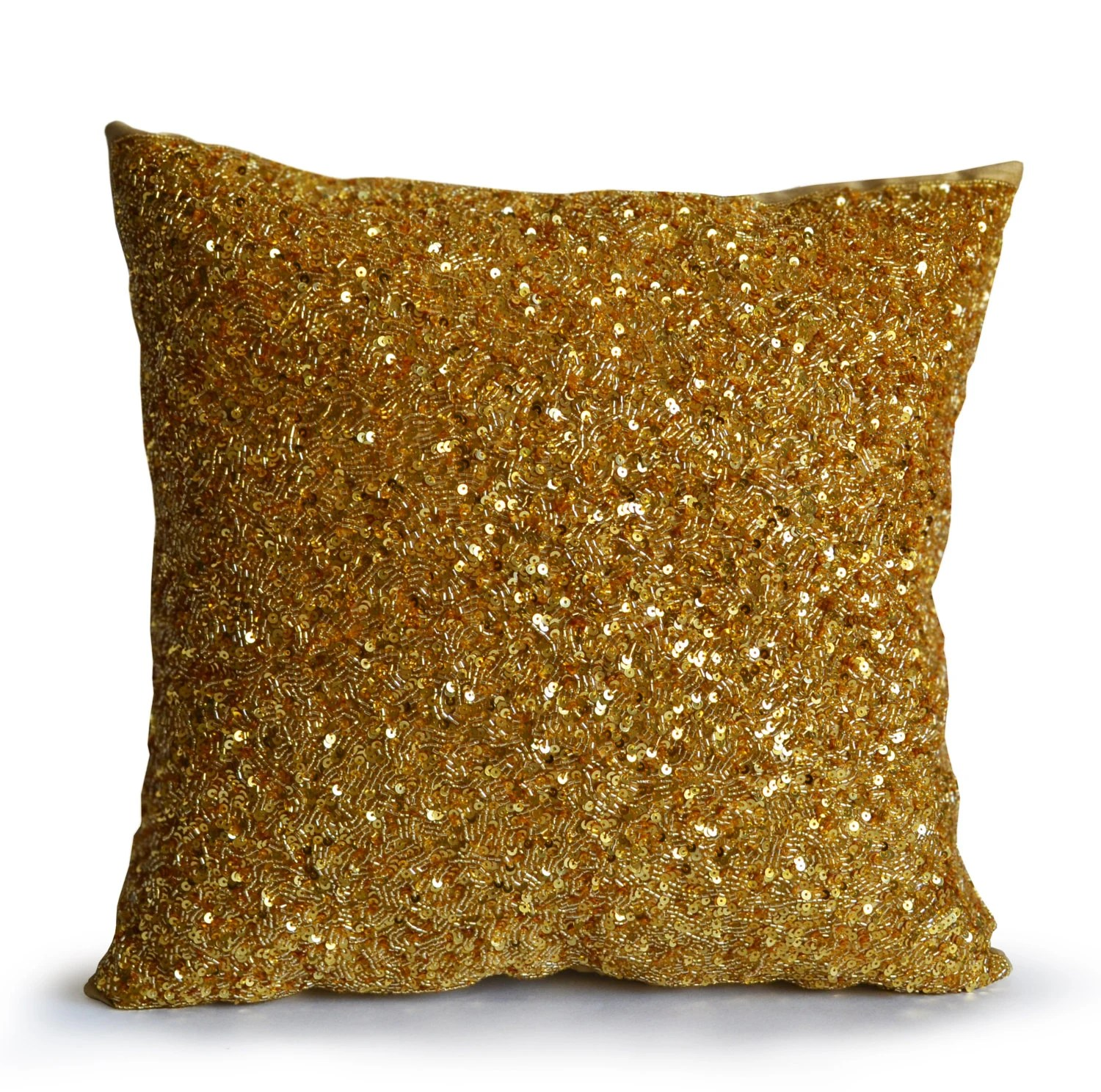 gold sofa throw pillows air mattress hide a bed for rv pillow cover holiday decor chic
