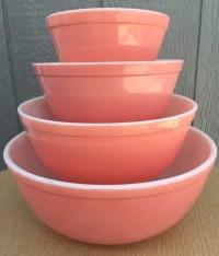 On Sale Pyrex Flamingo Pink Mixing Bowl Set