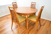 mid century dining table and chairs modern dining set