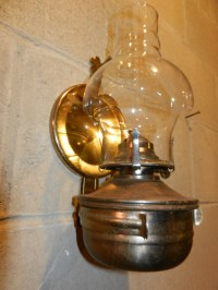 Vintage Wall Mounted Oil Lamp Removeable by ...
