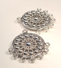 Silver Earring Making Supplies Ornate Silver Metal Earring