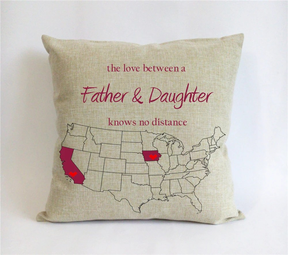 long distance father daughter pillow casefathers day gift