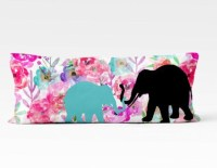Elephant Body Pillow Case Body Pillow Cover Watercolor