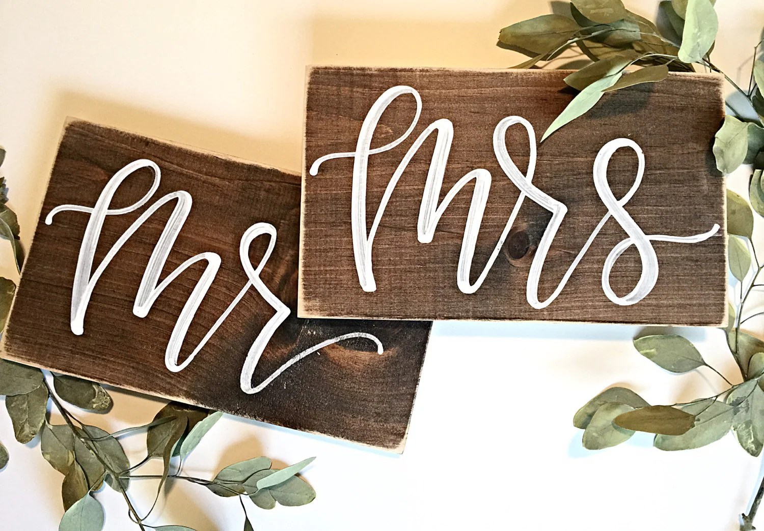 mr and mrs chair signs ficks reed rustic wedding by salvagedchicmarket