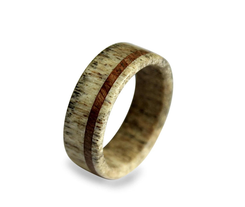 Handmade Deer Antler Ring Antler Ring Wooden Ring Antler