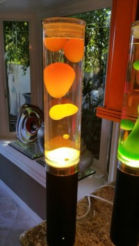 Lava Lamp Table Tower Neon Orange Yellow by LavaLampShop ...