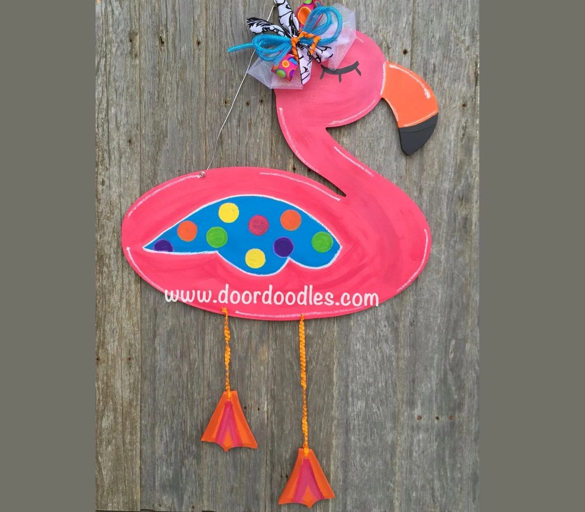 Pink Flamingo Wreath Etsy