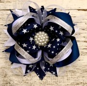 stacked bows boutique large hair
