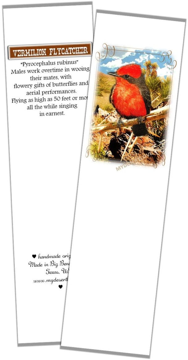 Red Bird Photo Bookmark, ...
