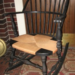 Arm Of Chair Portable Folding Chairs For Elderly Authentic Heywood Wakefield Mahogany Sack Back Antique Rocking
