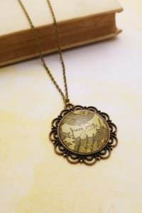 Isle of Skye Map Necklace Scotland Map Pendant Map Necklace