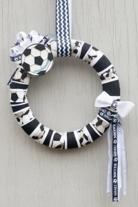 Soccer Ball Fabric Wreath Soccer Ball Decor Soccer Ball Door