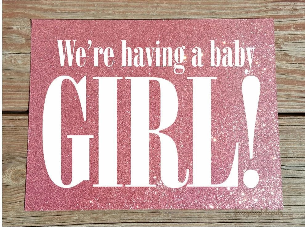 Items similar to Gender Reveal Baby Sign - Photo Prop - We ...