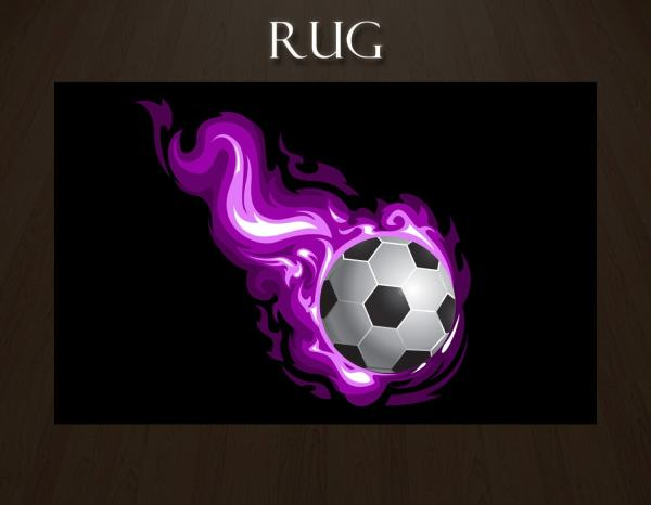 Soccer Ball Rug Rugs Sports Theme