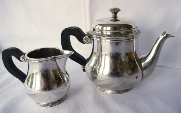 French Silver Plated Teapot And Milk Jug Ercuis Paris