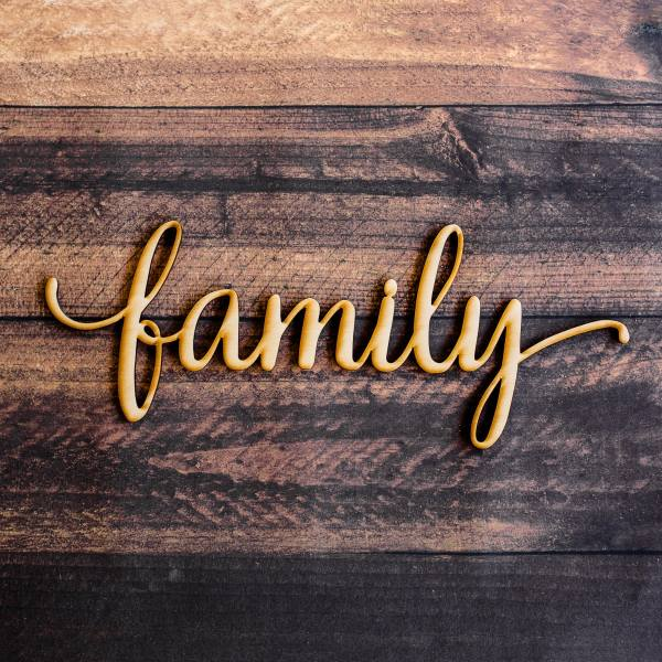 Family Script Word Wood Sign-wood Sign Art Wall