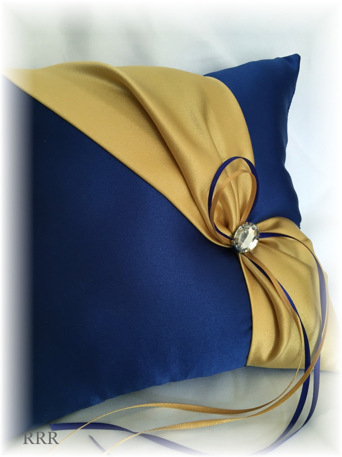 Royal Blue and Gold Wedding Ring Pillow Blue Wedding by