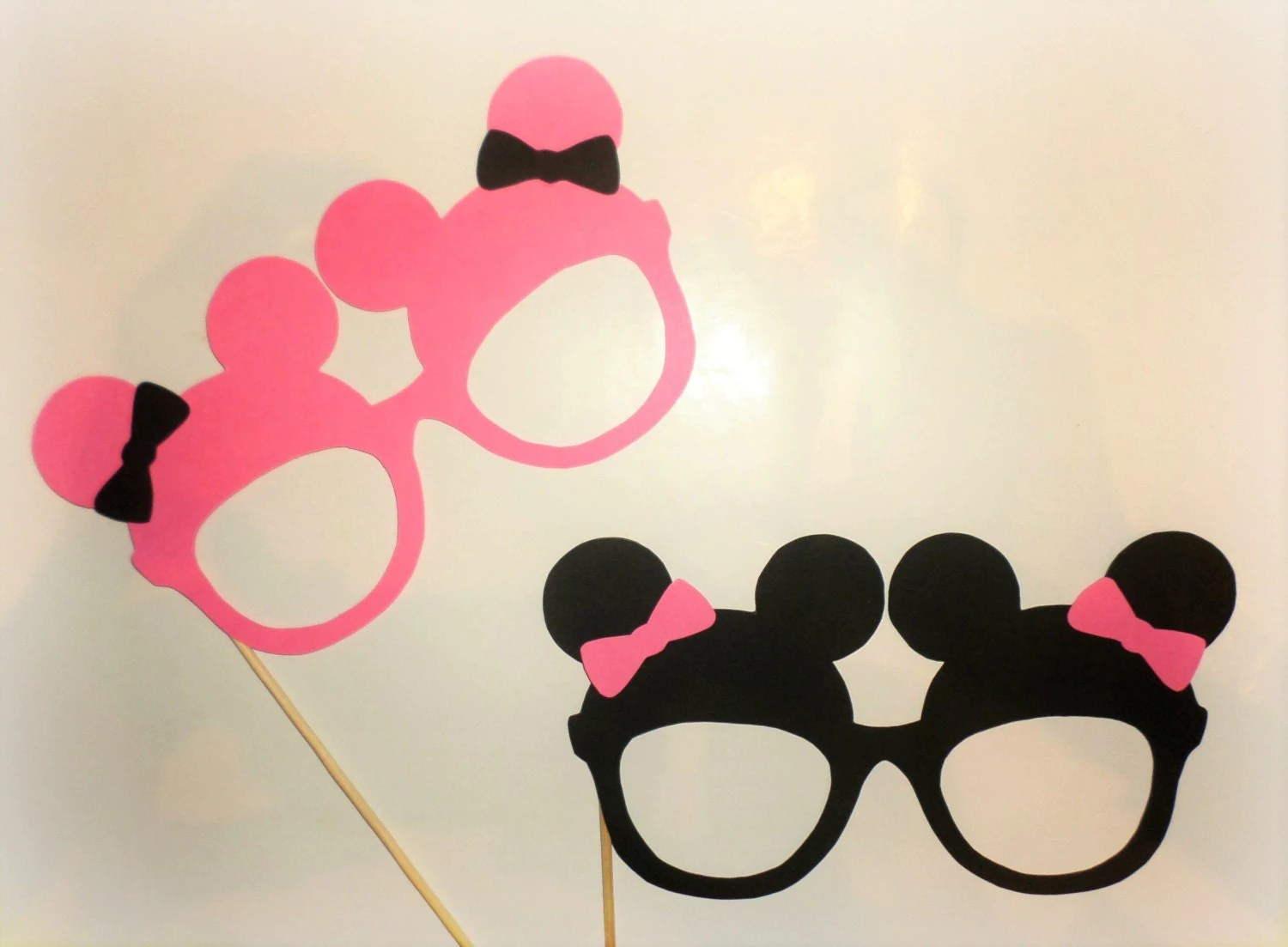 picture regarding Minnie Mouse Photo Booth Props Printable known as Minnie Mouse Cutouts Printable - Yr of Refreshing H2o