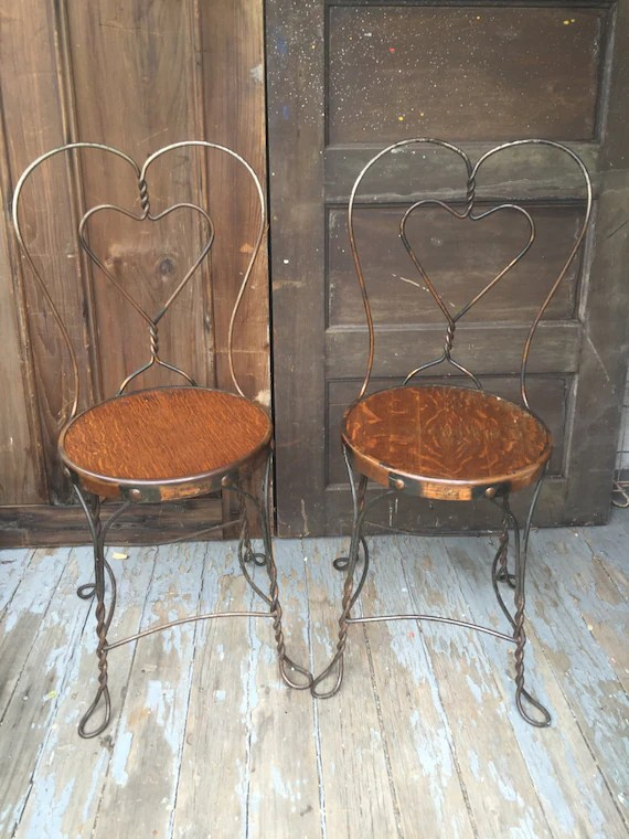 small bistro table and chair tot tutors chairs antique wrought iron ice cream parlor