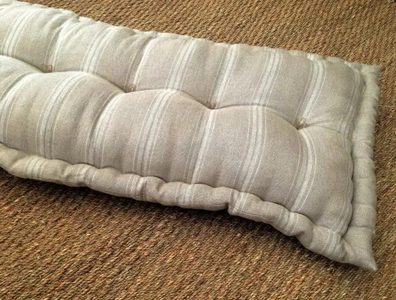 French Mattress Pillow Style Cushion Made To Measure Tufted