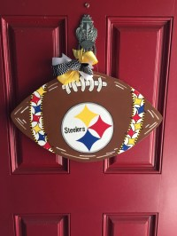 Steelers wooden football door decoration NFL custom door