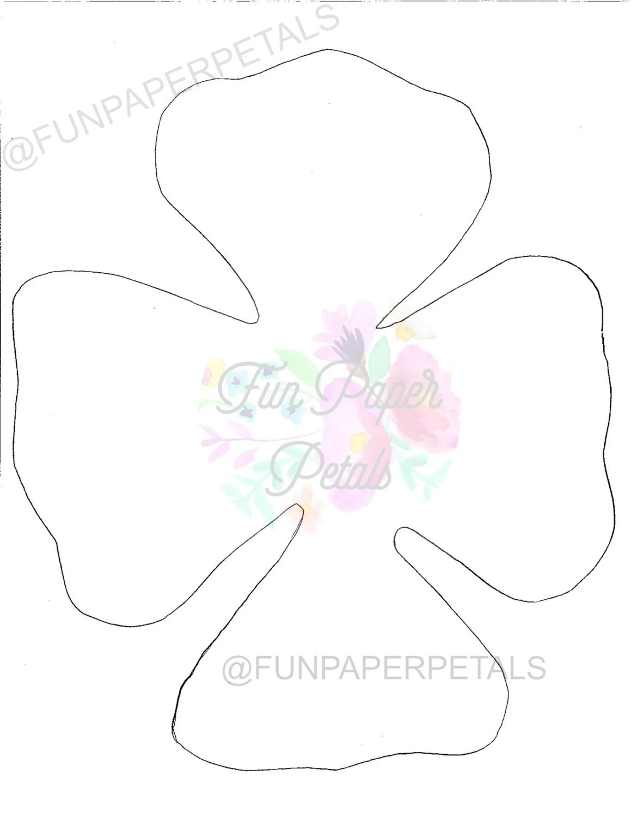 PAPER FLOWER Printable Flower Template Flower template